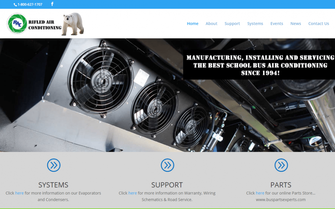 Rifled Air Conditioning, the #1 Bus Air Conditioning Company, Launches New Website!